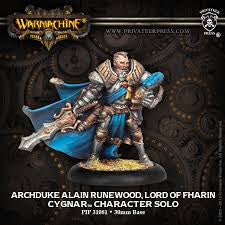 Buy Warmachine - Cygnar - Archduke Alain Runewood, Lord of Fharin and more Great Tabletop Wargames Products at 401 Games