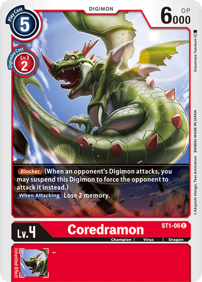 Coredramon (ST1-06) available at 401 Games Canada