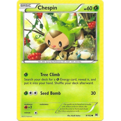 Buy Chespin - 9/162 and more Great Pokemon Products at 401 Games
