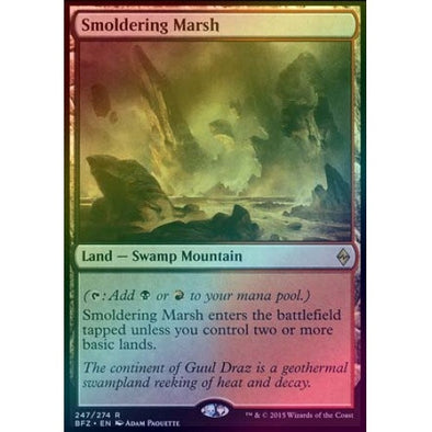 Smoldering Marsh (Foil) (BFZ) available at 401 Games Canada