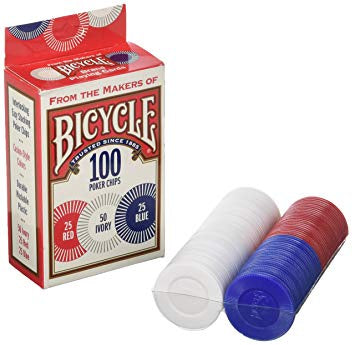 Bicycle - 100 Poker Chips - 401 Games