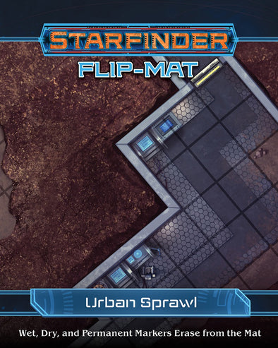Buy Starfinder - Flip-Mat - Urban Sprawl and more Great RPG Products at 401 Games