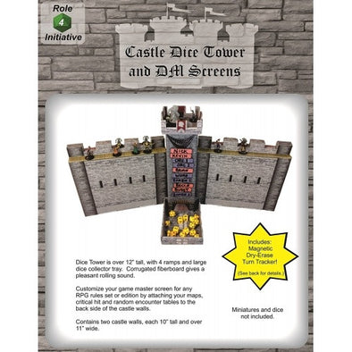 Castle Dice Tower/DM Screen (Includes Magnetic Dry Erase Turn Tracker) - 401 Games