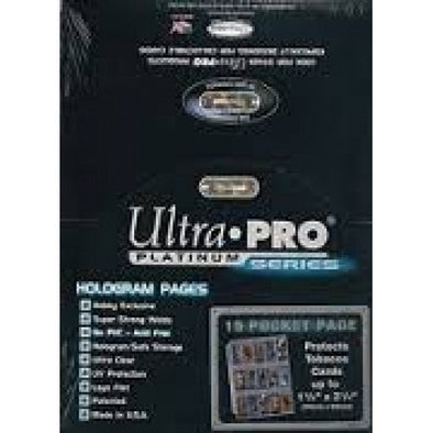 Ultra Pro - Binder Pages - 15 Pocket - 100ct Clear - 401 Games