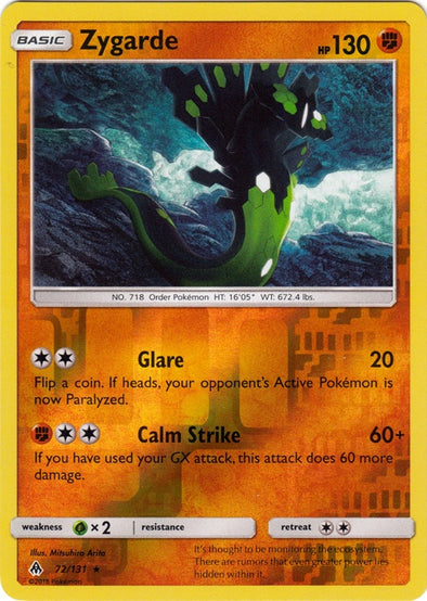 Buy Zygarde - 72/131 - Reverse Foil and more Great Pokemon Products at 401 Games