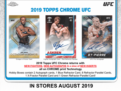 Buy 2019 Topps Chrome UFC Hobby Box (Pre-Order 08/14/2019) and more Great Sports Cards Products at 401 Games