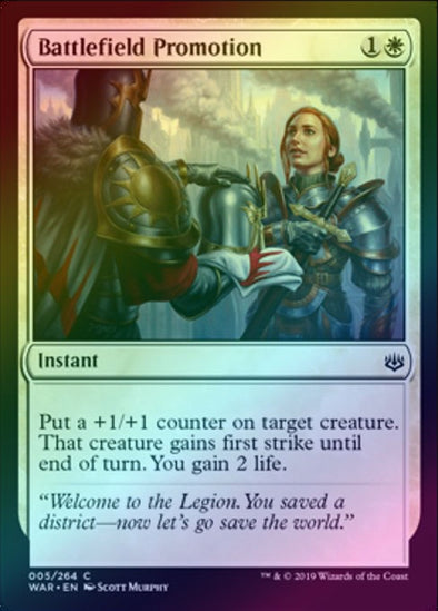 Battlefield Promotion (Foil) (WAR)