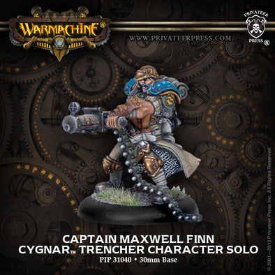 Buy Warmachine - Cygnar - Captain Maxwell Finn and more Great Tabletop Wargames Products at 401 Games