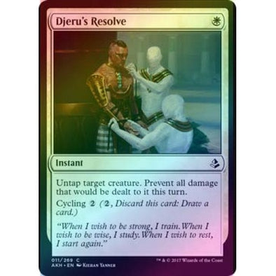 Djeru's Resolve (Foil) (AKH) available at 401 Games Canada