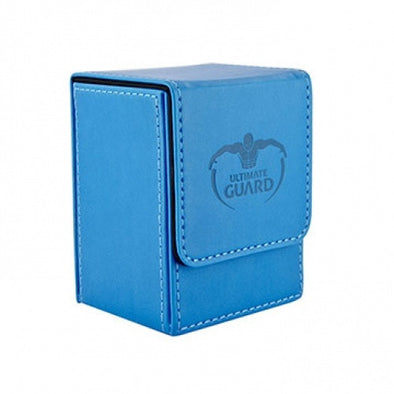 Ultimate Guard - Flip Deck Case Leatherette 100+ - Light Blue available at 401 Games Canada