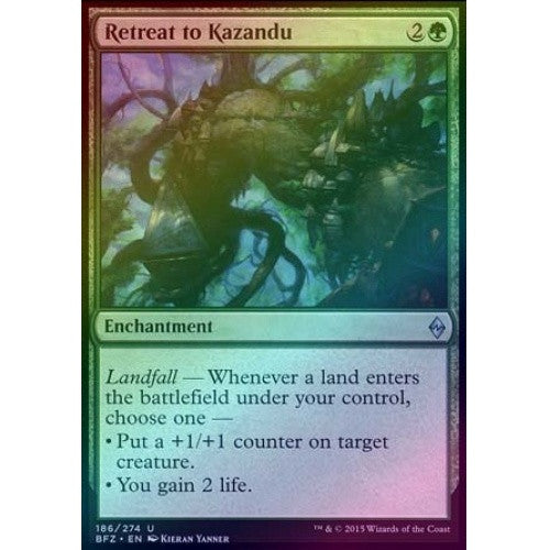 Retreat to Kazandu (Foil) (BFZ) available at 401 Games Canada