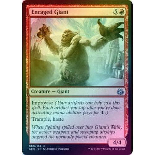 Enraged Giant (Foil) (AER) available at 401 Games Canada
