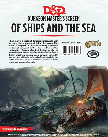 Dungeons & Dragons - 5th Edition - Dungeon Master's Screen - Of Ships and the Sea