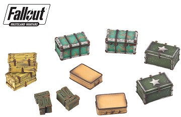 Fallout - Wasteland Warfare - Terrain Expansion - Cases and Crates (Pre-Order) - 401 Games