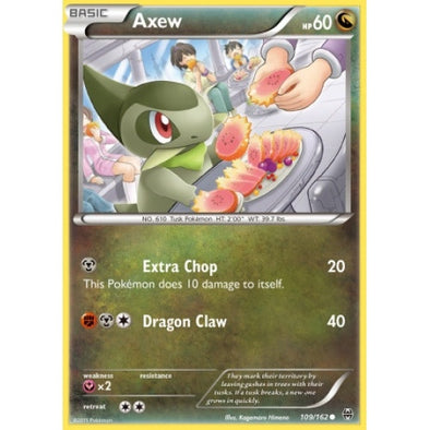 Buy Axew - 109/162 - Reverse Foil and more Great Pokemon Products at 401 Games