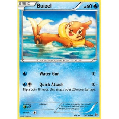Buy Buizel - 28/106 - Reverse Foil and more Great Pokemon Products at 401 Games