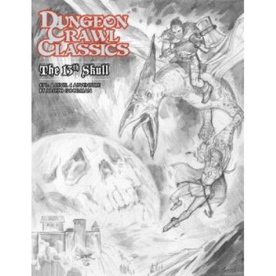 Dungeon Crawl Classics: The 13th Skull - Sketch Cover available at 401 Games Canada