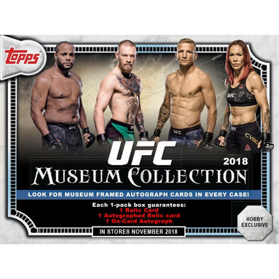 Buy 2018 Topps UFC Museum Collection Hobby Box and more Great Sports Cards Products at 401 Games