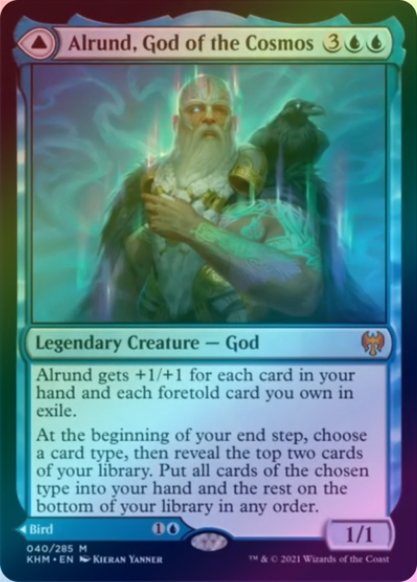 Alrund, God of the Cosmos // Hakka, Whispering Raven (FOIL) (KHM) available at 401 Games Canada