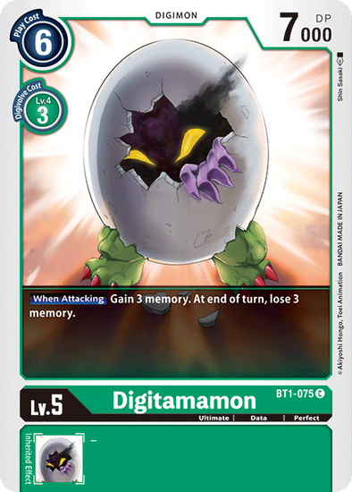 Digitamamon (BT1-075) available at 401 Games Canada