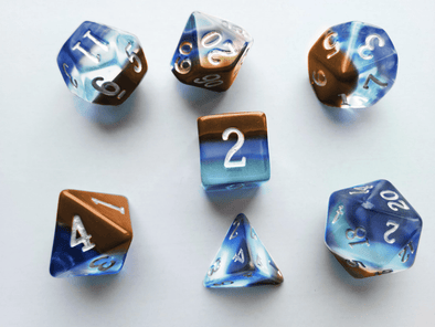 Little Dragon - Birthstone Dice - Opal (October)