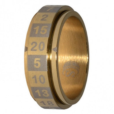 R20 Dice Ring - Size 18 - Gold available at 401 Games Canada