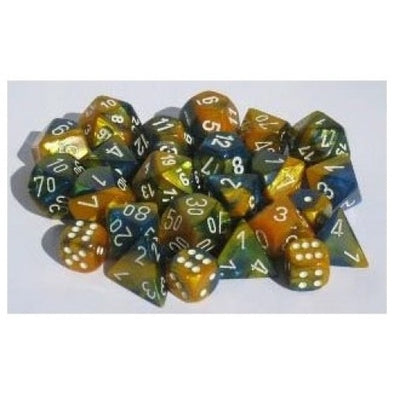 Buy Chessex - 12D6 - Gemini - Masquerade-Yellow/White and more Great Dice Products at 401 Games