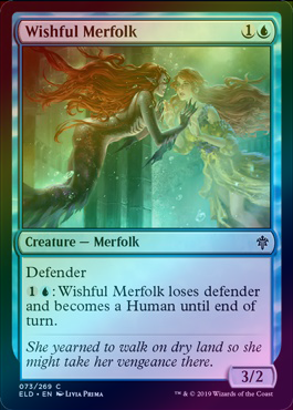 Wishful Merfolk (Foil) (ELD) available at 401 Games Canada