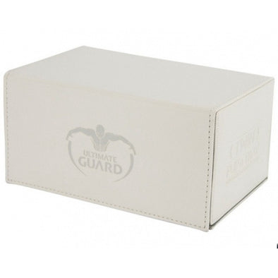 Buy Ultimate Guard - Twin Flip n' Tray Xenoskin 160 - White and more Great Sleeves & Supplies Products at 401 Games