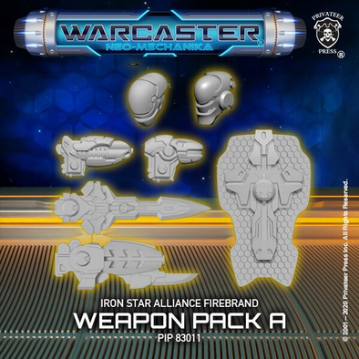 Warcaster - Neo-Mechanika - Iron Star Alliance - Firebrand Weapon Pack (Variant A) - 401 Games
