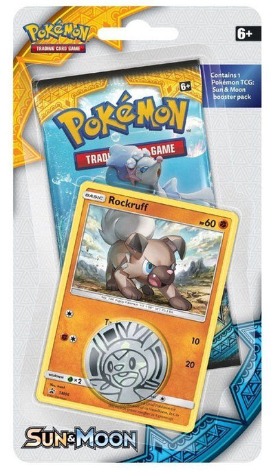 Pokemon - Sun & Moon Checklane Blister - Rockruff available at 401 Games Canada