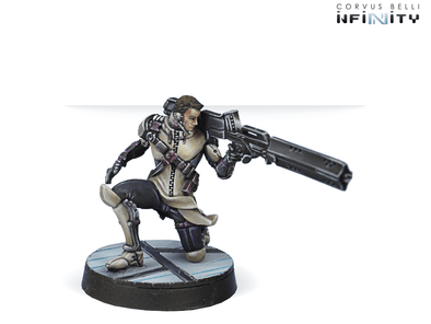 Infinity - ALEPH - Teucer, Agêma Warrant Officer (Feuerbach) available at 401 Games Canada