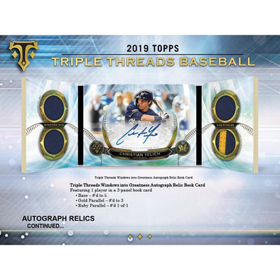 2019 Topps Triple Threads Baseball Hobby Box - 401 Games