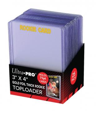 Buy Ultra Pro - Toploader 25ct - 75pt Gold Rookie and more Great Sleeves & Supplies Products at 401 Games
