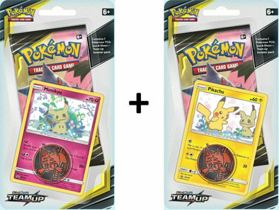 Pokemon - Team Up Check Lane Blister Pack - 2 Blister Bundle