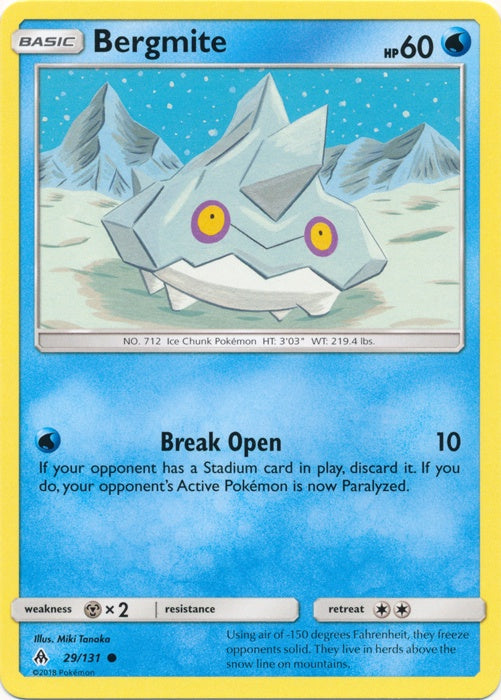 Buy Bergmite - 29/131 and more Great Pokemon Products at 401 Games