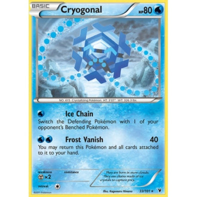 Buy Cryogonal - 33/101 - Reverse Foil and more Great Pokemon Products at 401 Games