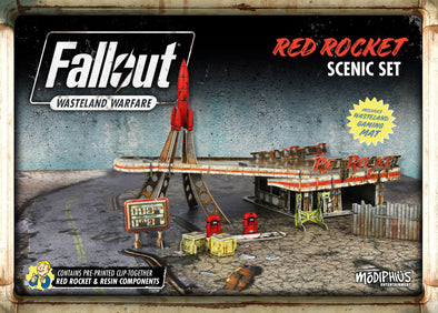 Buy Fallout - Wasteland Warfare - Red Rocket - Scenic Set and more Great Tabletop Wargames Products at 401 Games