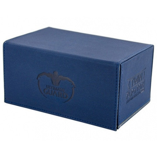 Buy Ultimate Guard - Twin Flip n' Tray Xenoskin - Blue 160+ and more Great Sleeves & Supplies Products at 401 Games