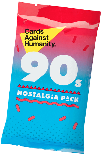 Cards Against Humanity - 90's Nostalgia Pack available at 401 Games Canada