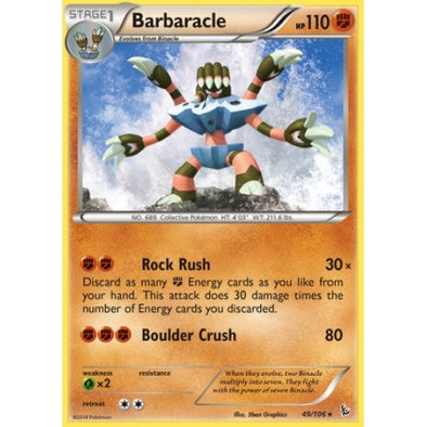 Buy Barbaracle - 49/106 and more Great Pokemon Products at 401 Games