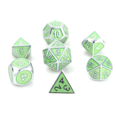 Die Hard - 7 Piece Set - Metal - Silver Peridot