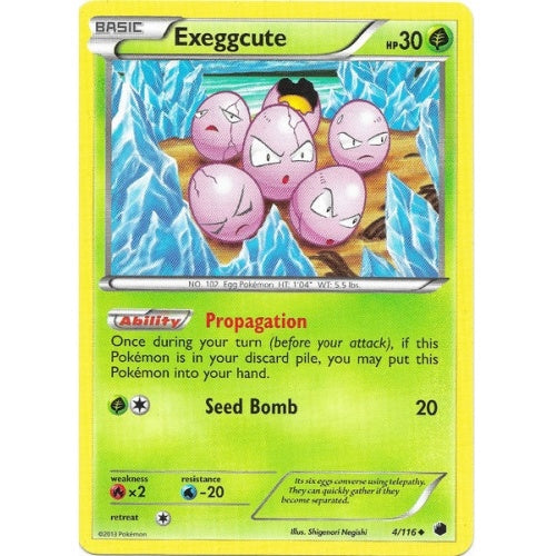 Exeggcute - 4/116 - Reverse Foil (PLF004R) available at 401 Games Canada