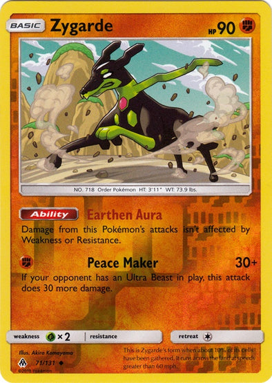 Buy Zygarde - 71/131 - Reverse Foil and more Great Pokemon Products at 401 Games