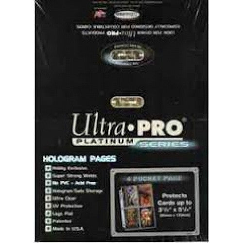 Ultra Pro - Binder Pages - 4 Pocket - 2.5 x 3.5 - 100ct Clear - 401 Games