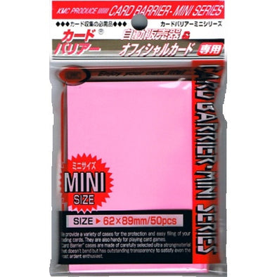 SUPL KMC Mini Card Barrier - 50ct Small Sleeves - Pink - 401 Games