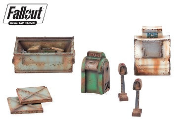 Fallout - Wasteland Warfare - Terrain Expansion - Boston Street Scatter (Pre-Order) - 401 Games