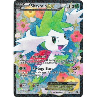 Buy Shaymin-EX - RC21/RC25 - Full Art and more Great Pokemon Products at 401 Games