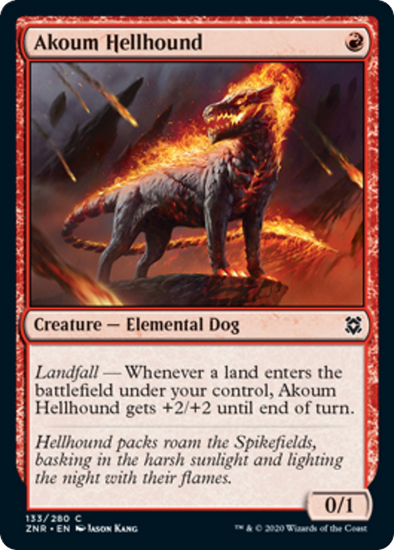 Akoum Hellhound (ZNR) available at 401 Games Canada
