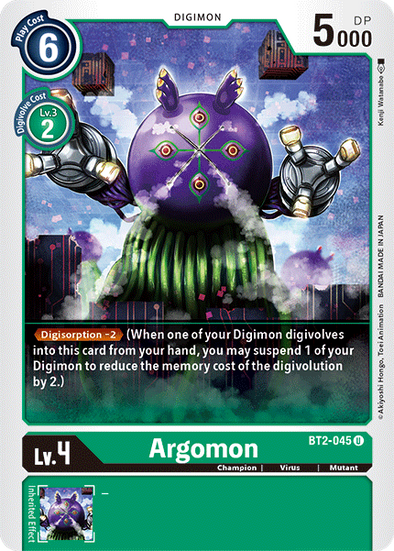Argomon (BT2-045) available at 401 Games Canada
